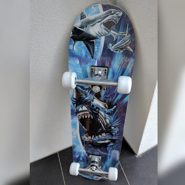 Never Used: Shark-deisgned Skateboard