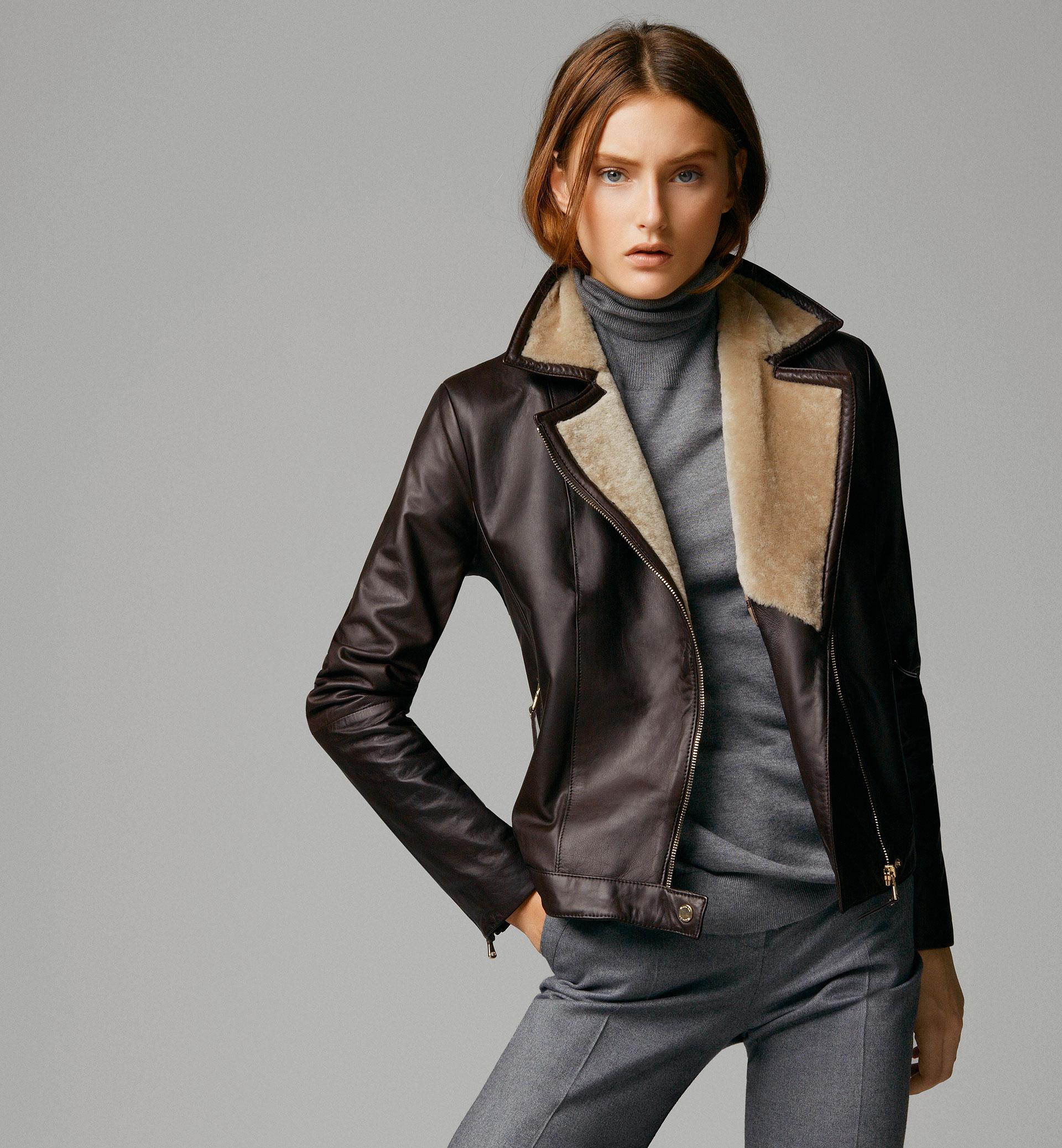 NEW! Massimo Dutti Lambskin leather jacket