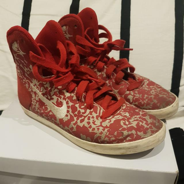 Nike Red Floral Shoes