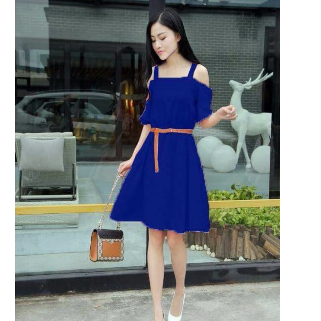 7ade41da3dae Off-shoulder Dress with belt