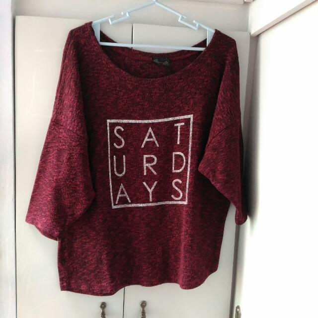 Oversize Knitted Blouse
