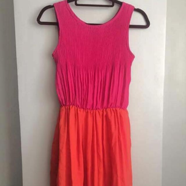 Pink Orange Dress
