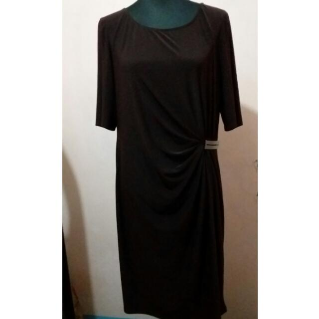 Plus Size Brown Elegant Semi-formal Dress