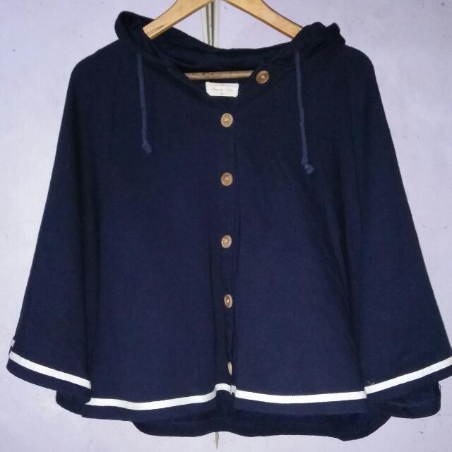 Poncho Jacket With Hood