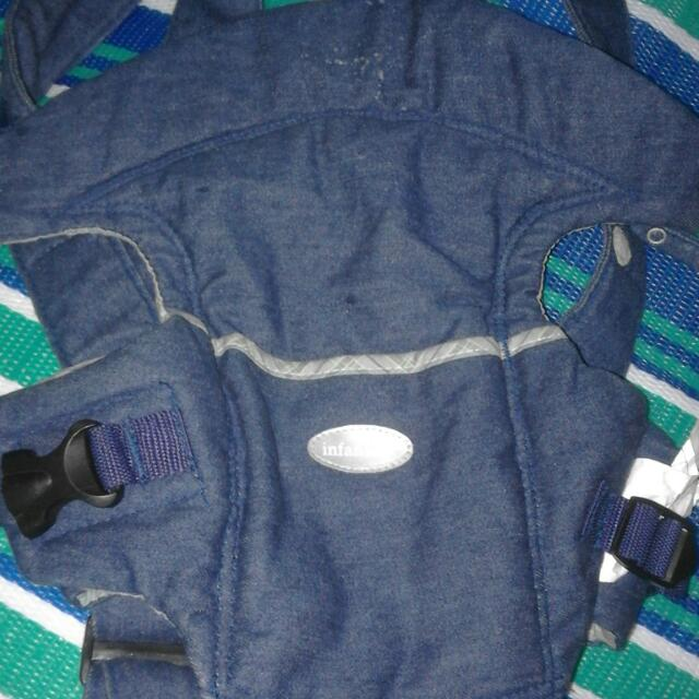 Pre Loved Infantino Easy Rider Baby Carrier Denim Plaid 8 To 20lbs 151561