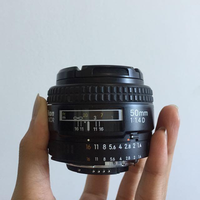 PRELOVED Nikon NIKKOR 50mm f/1.4D Lens