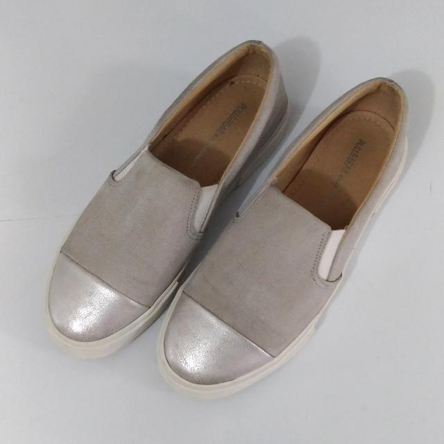 Pull & Bear Silver Toe Slip On