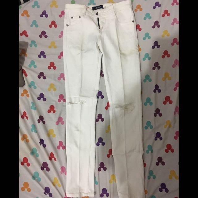 punny jeans white (jeans putih)