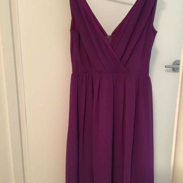 Purple Dress With Great Back Size 10