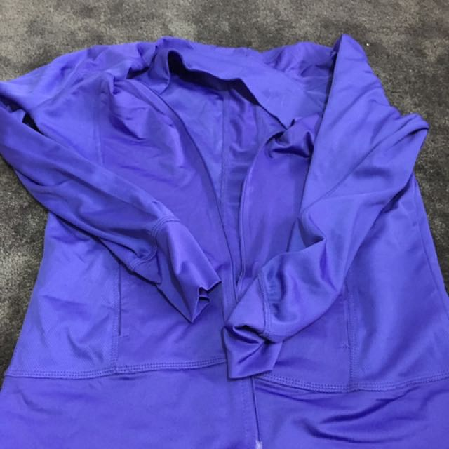 Purple Running Jacket With Thumb Holes
