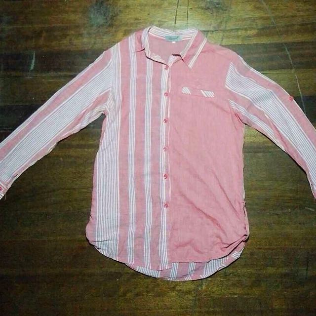 Red Stripes Button Down
