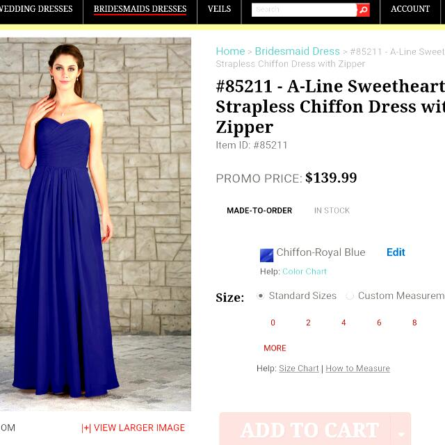 Royal Blue Chiffon Dress!
