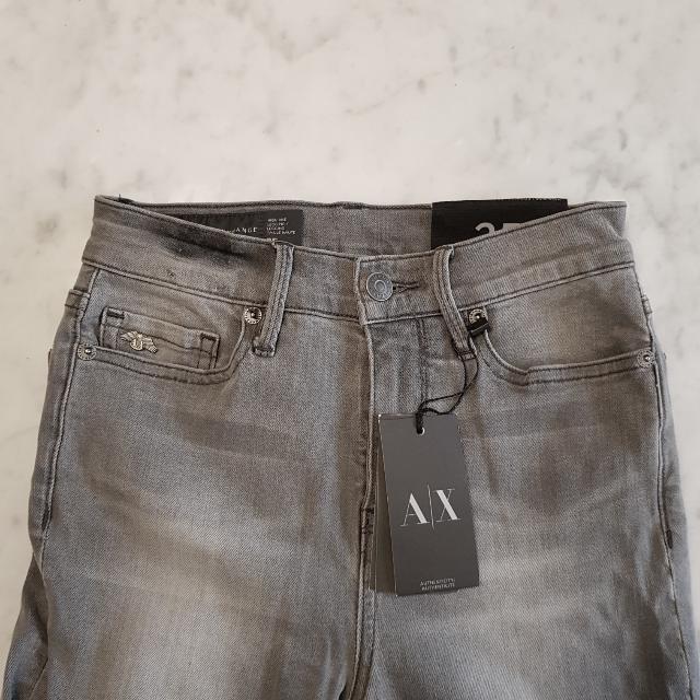 (RTP $190) BN Authentic Armani Exchange Grey Washed Skinny Denim Jeans
