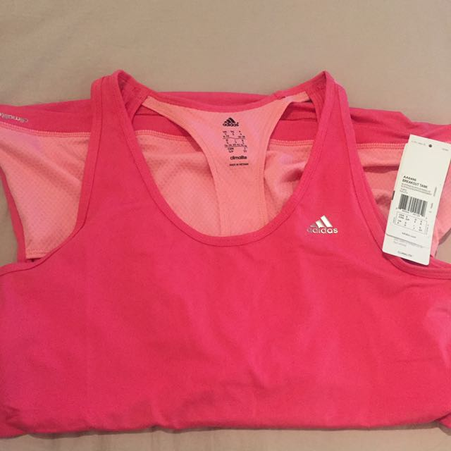 Small Pink Adidas Climate Workout Tank Top