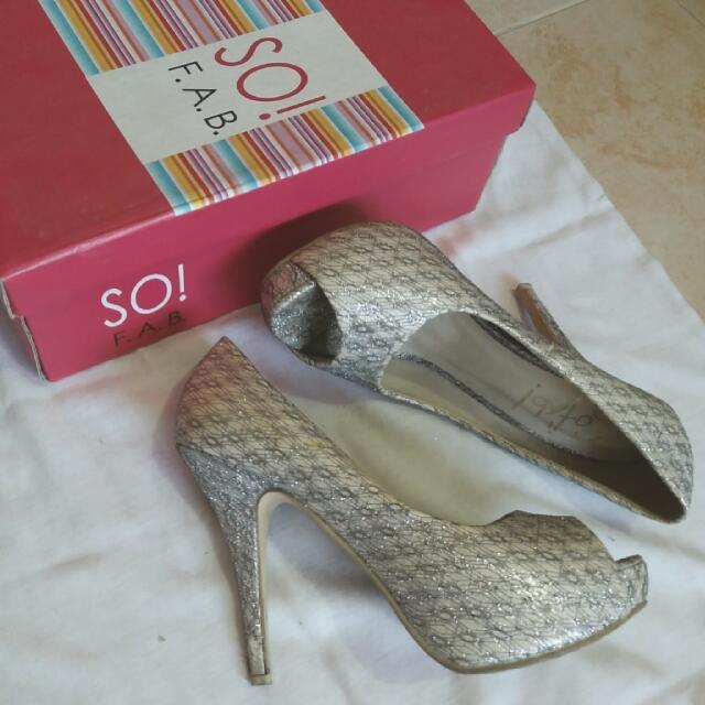 So Fab Silver 3 Inch Heels