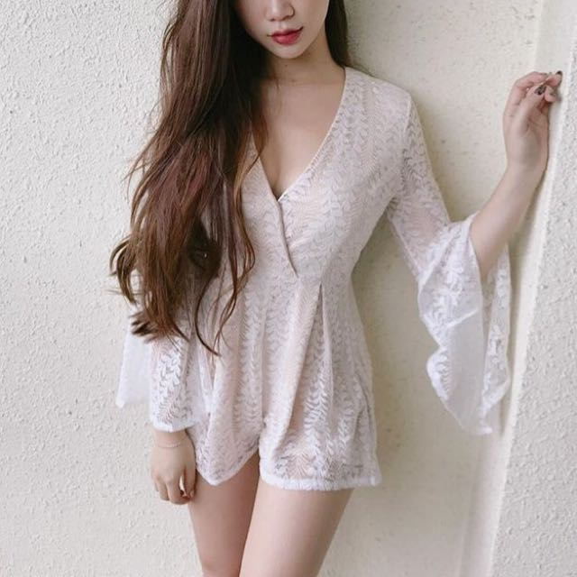 Spring Lace Romper