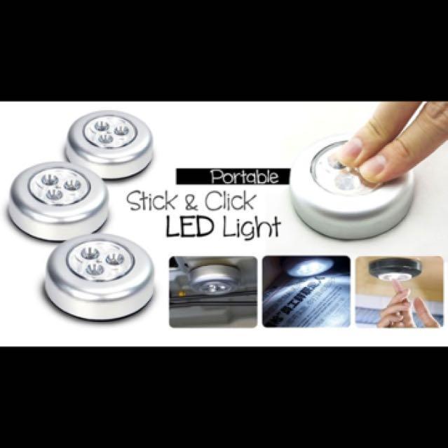 Stick and Click LED Light