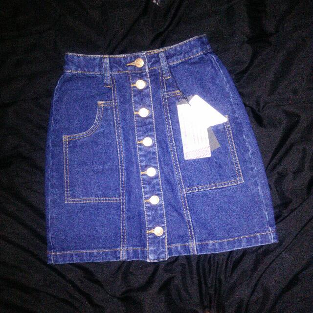 Stradivarius Denim Skirt #IDoTrades