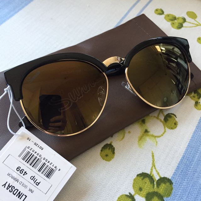 Sunnies - Lindsay (Ink Gold Mirror) + Free Shipping!