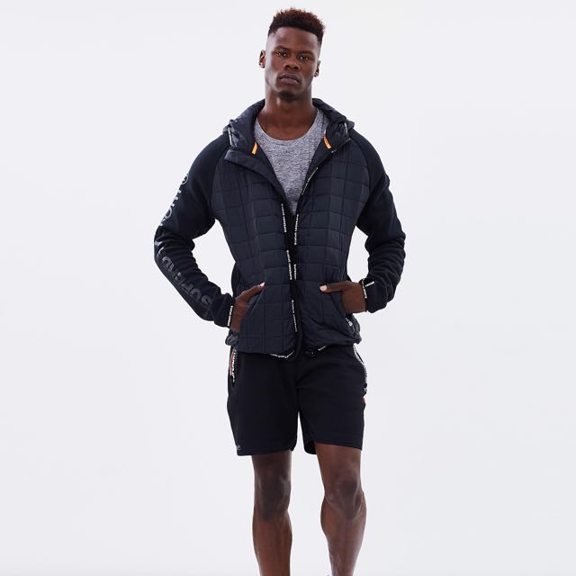 Superdry Sport Gym Tech Hyrbrid Zip Hoodie