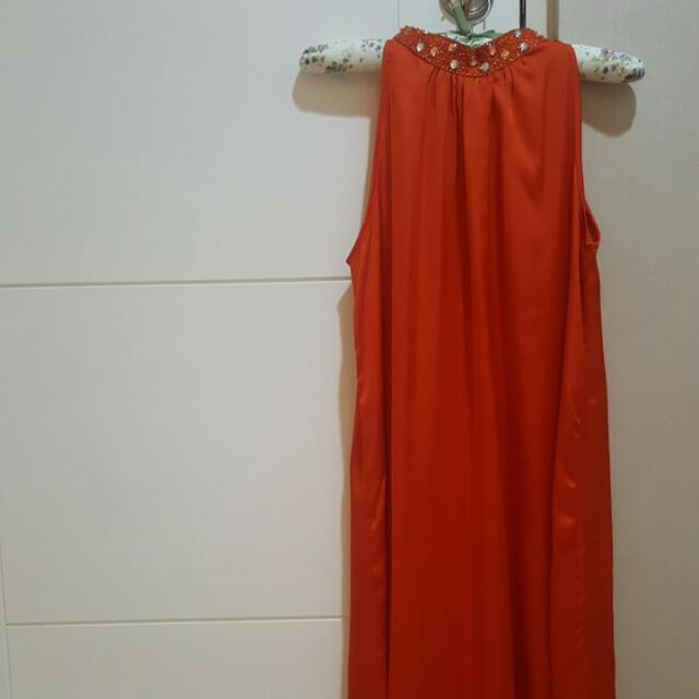 Tangerine Party Dress NyLa