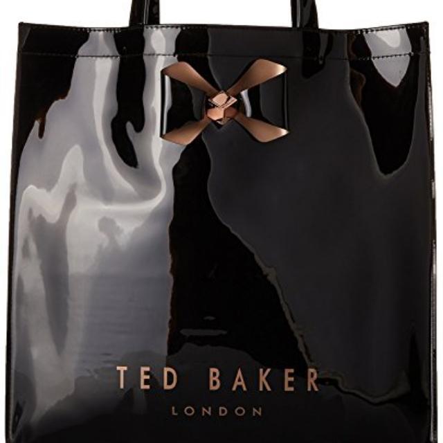 5cbf8186e2 Ted Baker Bowicon Plain Bow Large Icon Tote Bag, Women's Fashion ...