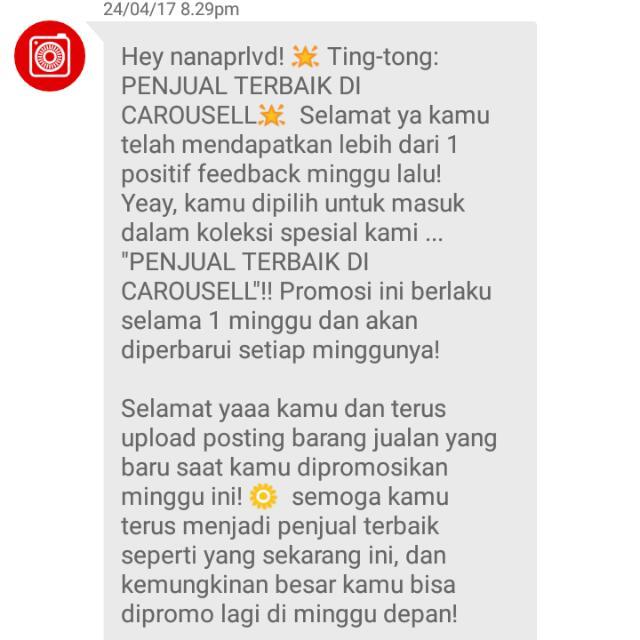 Thankyou Carousell ❤