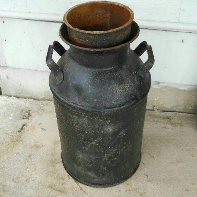 Antique 10 Gallon Buhl Steel Milk Barrell