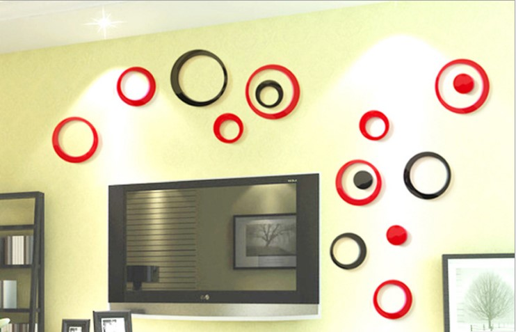 Wall sticker 3D wallsticker model bulat desain interior murah - KHM234