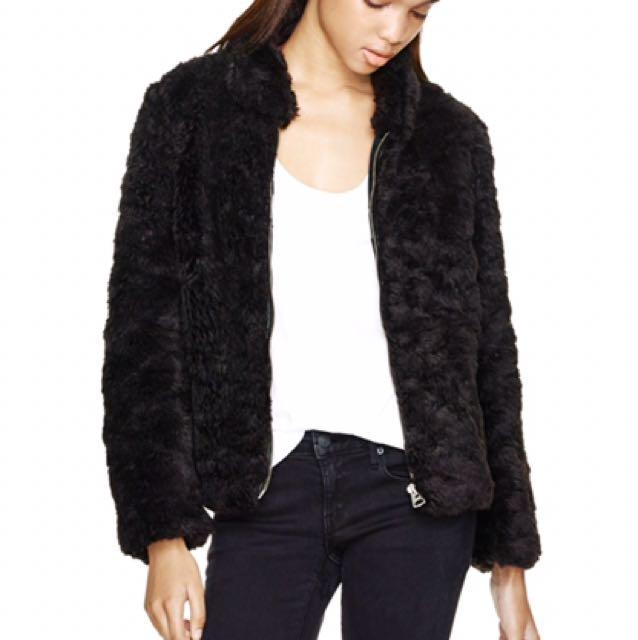 Wilfred Free Black Faux Fur
