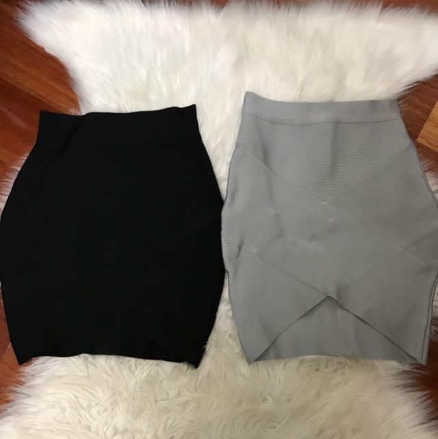 X 2 Bandage Skirts Size S