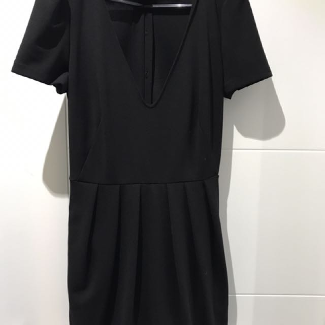 Zara V-neck Black Romper