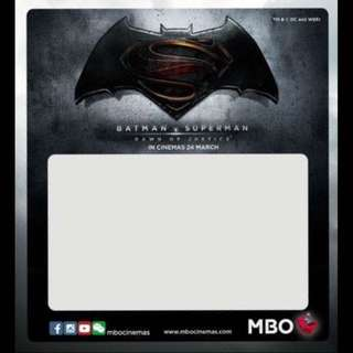 MBO Batman VS Superman Roadtax Sticker