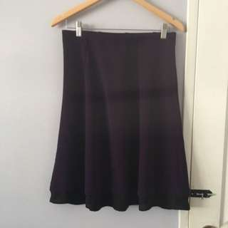 Basic Purple A Line Skirt