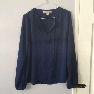 Basic Blue Blouse