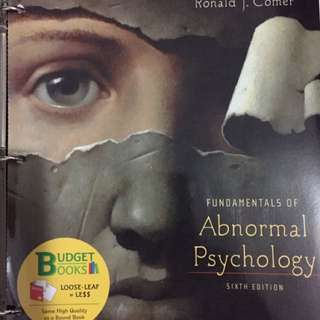 Fundamentals Of Abnormal Psychology Sixth Edition