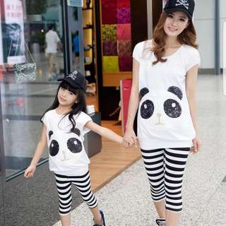 Mommy & Baby Panda Clothes (PAIR)