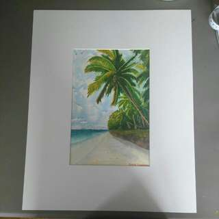 Palm Tree Watercolour Painting