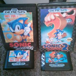 Sonic the hedgehog 1 And 2 For Sega genesis