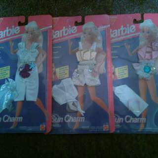 1990'1990's Barbie Clothes Lot Of 3