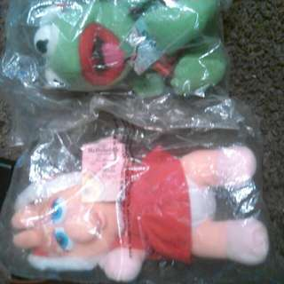 1988 McDonald's baby miss piggy and kermit