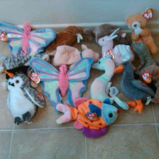 1998 Beanie Babies Lot Of 14