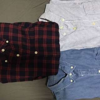 Flannel/Denim/Oxford Long Sleeves Shirt For Sale