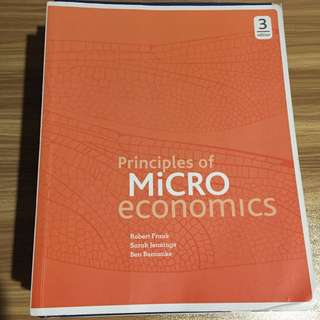 Principles of Microeconomics By Frank, Jennings and Bernanke