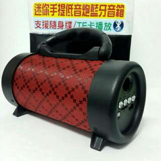 🆕🔞 Large Bluetooth speaker subwoofer 高音質 無破音 物超所值 原裝進口2017 限量款格紋棕 戶外旅遊新亮點。 Original import 2017 limited edition grid pattern brown outdoor tourism new bright spot.