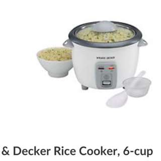 Black And Decker Rice Cooker And Steamer