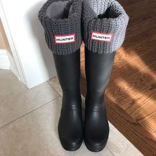 Hunter Boots & Socks Size 6 Black