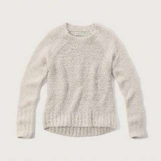 Abercrombie And Fitch White Sweater