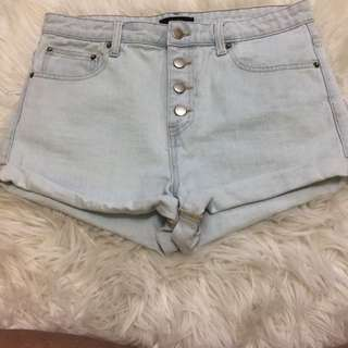 Light Washed Shorts | Forever 21