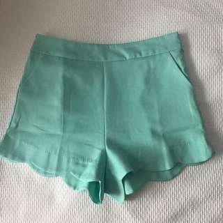 Mint Green Boohoo Shorts Size 12